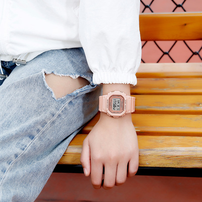 Watch girls fashion cool electronic ink screen watch girls personality unique trend simple classic retro rubber