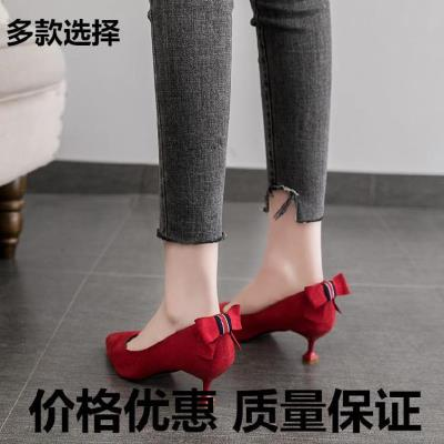 Patent leather work office dress frosted Cow Leather Silver flying weave new high-heeled shoes female 2020pu temperament