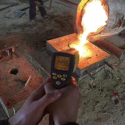 High grade taikeman high temperature infrared thermometer for molten steel, hot metal and aluminum