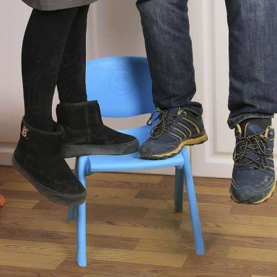 懒人欧式学习方便餐厅塑料宝宝餐椅简单款网红护童小孩多功能桌椅