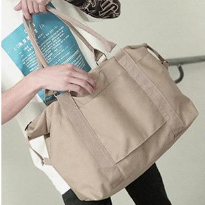 拉杆箱上的旅行收纳包行李袋拉杆手提二合一行李包短途简约便携式