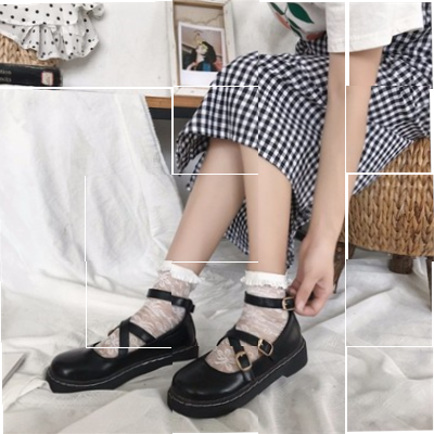 Soft girl shoes childrens original home lovely womens shoes shallow mouth round head students small shoes style Lolita flat sole single shoes less.