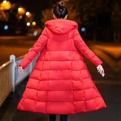 New years cotton padded jacket, bread, womens clothes, mothers winter medium and long thick clothes, cotton large size, handsome and fashionable cotton padded clothes
