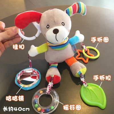 Small toys hanging on the baby carriage 2 pieces of music rotating the head of the bed and ringing the bell bed with decorations
