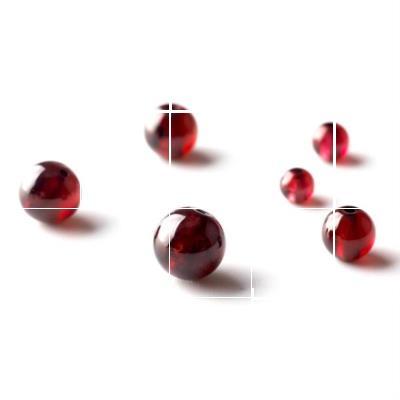 润透亮酒红色石榴石散珠天然纯正黑红珠宝店饰品店大小号半成品大图片