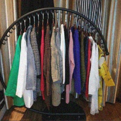 男女服装店展示架落地式货架挂式店面圆形店铺新款家用简易卖衣服