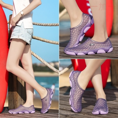 Drift shoes easy to carry, men and women convenient equipment anti slip trend water land sandals hole shoes dual use wading