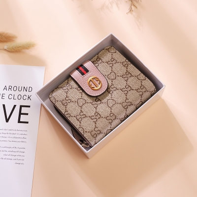 Card bag small purse integrated bag womens multi-function 2020 new large capacity short folding multi card position two in one