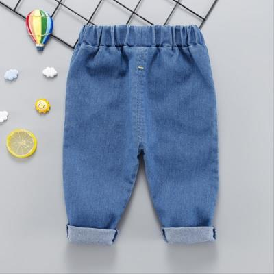 Grey summer childrens wear childrens fashionable childrens jeans boys super soft spring high elasticity
