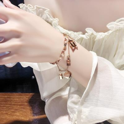 High grade feeling bracelet is made of titanium steel. Its made of faded bracelet and womens fashion winding net.