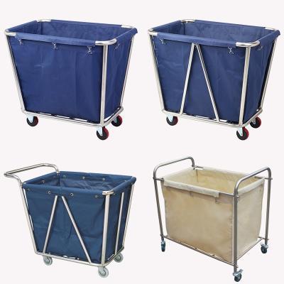 分类双边用品轱辘袋子保洁收纳服务车洗衣房手推推车垃圾袋布