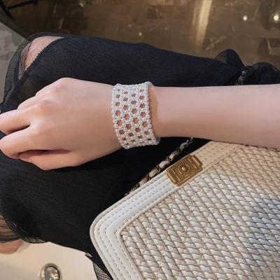 New Japanese and Korean net red pearl bracelet women wide jewelry pearl Knitting Design Bracelet women bracelet Jewelry