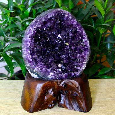High grade crystal noble Natural Amethyst cluster Amethyst hole block stone home office living room crystal decoration gift small