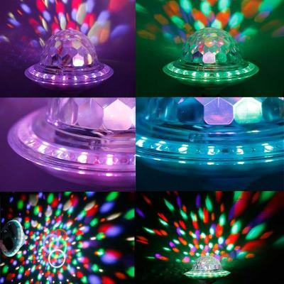 Romantic colorful Bluetooth star lamp stage flying saucer lamp 9 color color changing sound lamp lotus lamp dazzling color rotation