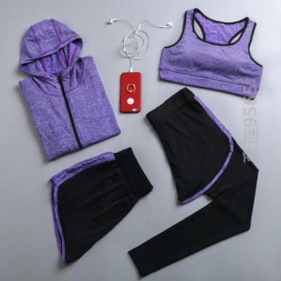 Fitness clothes sports suit female running beginners fashionable beauty trend summer exercise convenient female