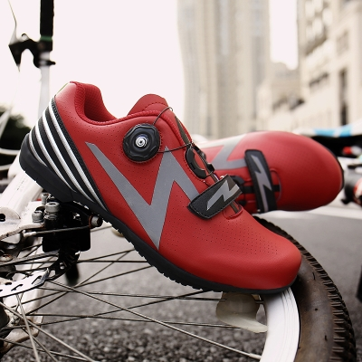 Mens and womens mountain bike bicycle shoes non lock booster shoes reflective flat bottom cycling shoes