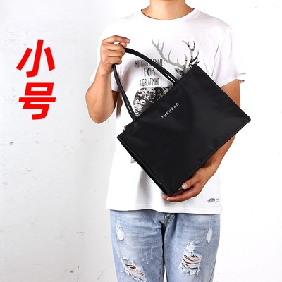 Xiaoyang Jiaheng business light mens briefcase simple document large capacity Black Handbag casual handbag color cloth