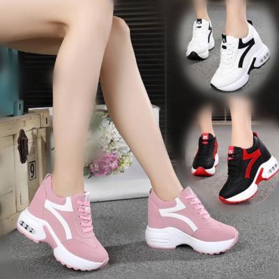 韩版内女鞋厚底小白鞋女学生休闲运动鞋百搭春季新款坡跟松糕
