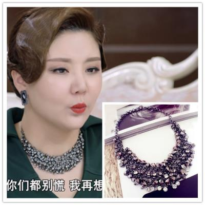May you live like a dream Cheng Yanqiu An Yue Xi Lin Ruo Meng same necklace crystal gem Tassel Necklace clavicle chain