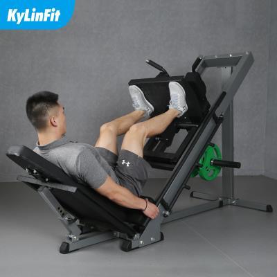 商用倒蹬机站蹲倒蹬训练器哈克深蹲机腿部力量健身器材45度斜