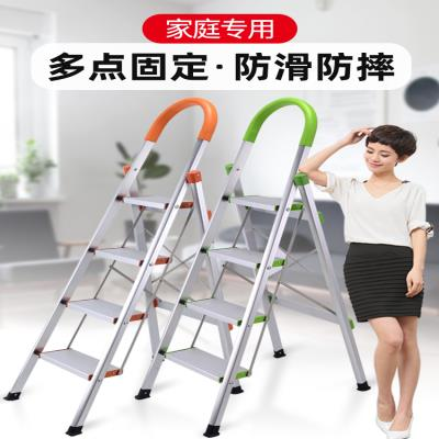 Staircase household thickened ladder ladder foldable aluminum alloy ladder word project cabinet ladder four five room step