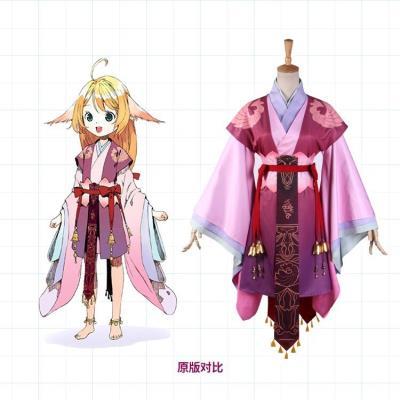 涂山蘇蘇cos服狐妖小紅娘可愛兒童漢服套裝古裝全套假發古風扮演