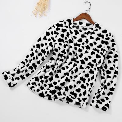 睡衣上衣单件女冬中长款珊瑚绒睡衣上衣单件秋冬季加厚珊瑚绒女士