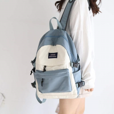 Backpack girl shopping style small back bag simple medium sized gift pink big schoolbag 5th grade junior high school girl