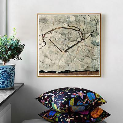 秋树席勒 欧式客厅油画美式复古玄关装饰壁画艺术风景挂画餐厅图片