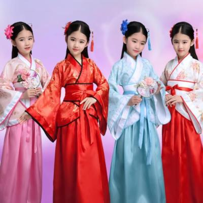 hanfu female students outside the small girl Ru skirt show red brim purple indigo young step