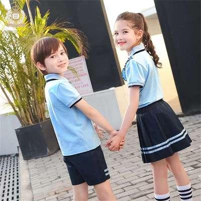 小学生校服夏装学院风幼儿园园服儿童运动套装学校制定班服学生装
