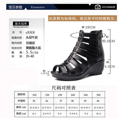 Creative middle aged mother sandals womens wear 40 years old 50 summer flat bottom summer root high heel Mid Heel shoes old