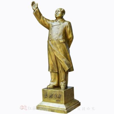 The new large Chairman Mao stands like a pure copper sculpture, decorates the living room and decorates the office geomantic products