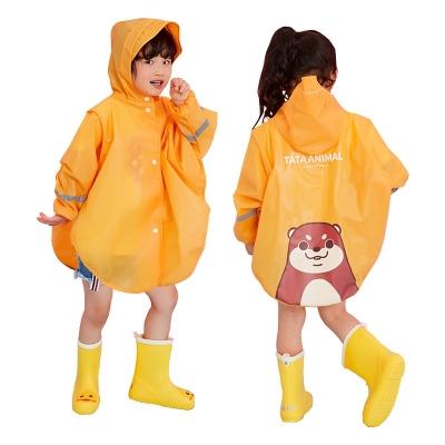 。宝宝雨衣一体式全身小孩男女童幼儿园雨披斗篷式连帽学生4-5-6