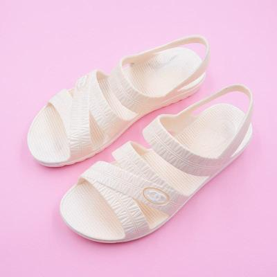 Middle aged and elderly soft rainy day nurse shoes large size ordinary rubber sandals summer womens plastic sandals childrens shoes in 1980s
