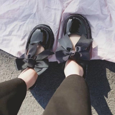 Soft girl small shoes female students Korean version versatile British style Lovely Japanese school style JK Lolita shoes