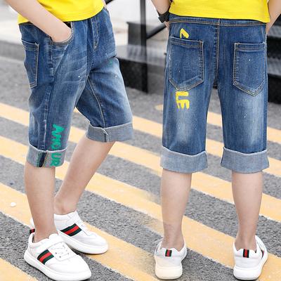 兒童夏天牛仔短褲十歲男孩七分褲9夏裝5男生褲子11男童馬褲12外穿