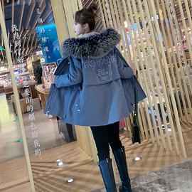 2020冬新款派克服女外套狐狸毛领可拆卸毛毛内胆小个子短款大衣
