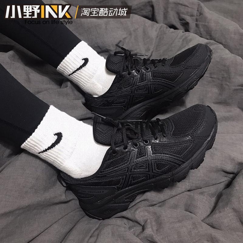 小野INK Asics 亚瑟士 JOG 100 2 黑武士男女跑步鞋 TJG138-9090图片