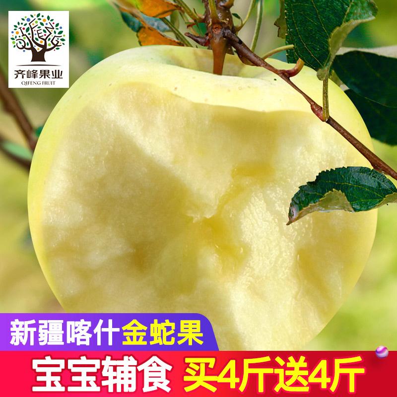 齐峰缘 新疆喀什黄元帅金蛇苹果 原产地直采新鲜苹果水果现摘现发