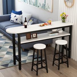 现代简易吧台桌家用客厅隔断靠墙吧台酒吧高脚桌茶餐厅桌椅图片