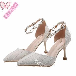 高更鞋成年禮學生少女高跟鞋温柔風cic日常女鞋女細跟氣質.