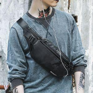 男士休闲腰包潮流时尚胸包男女新款韩版运动户外斜挎包便捷小背包