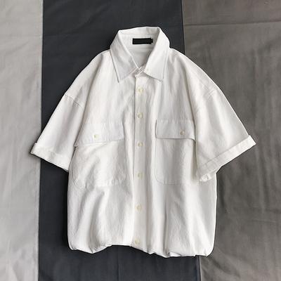 2019夏款男衬衫短袖T大口袋衬衣宽松版1 A325-CS10-P50