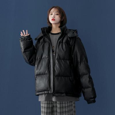 冬季新款棉服PU连帽中性棉衣     A325-M1985-P128  控158