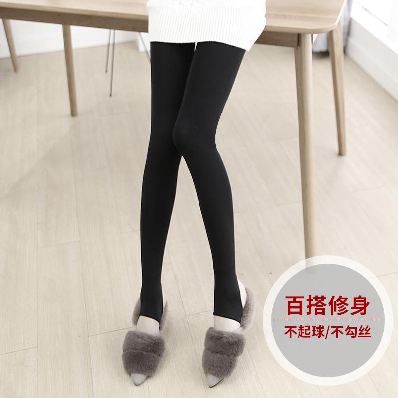 加绒加厚打底裤外穿小脚铅笔长裤2017新款秋冬季棉裤黑色保暖女裤