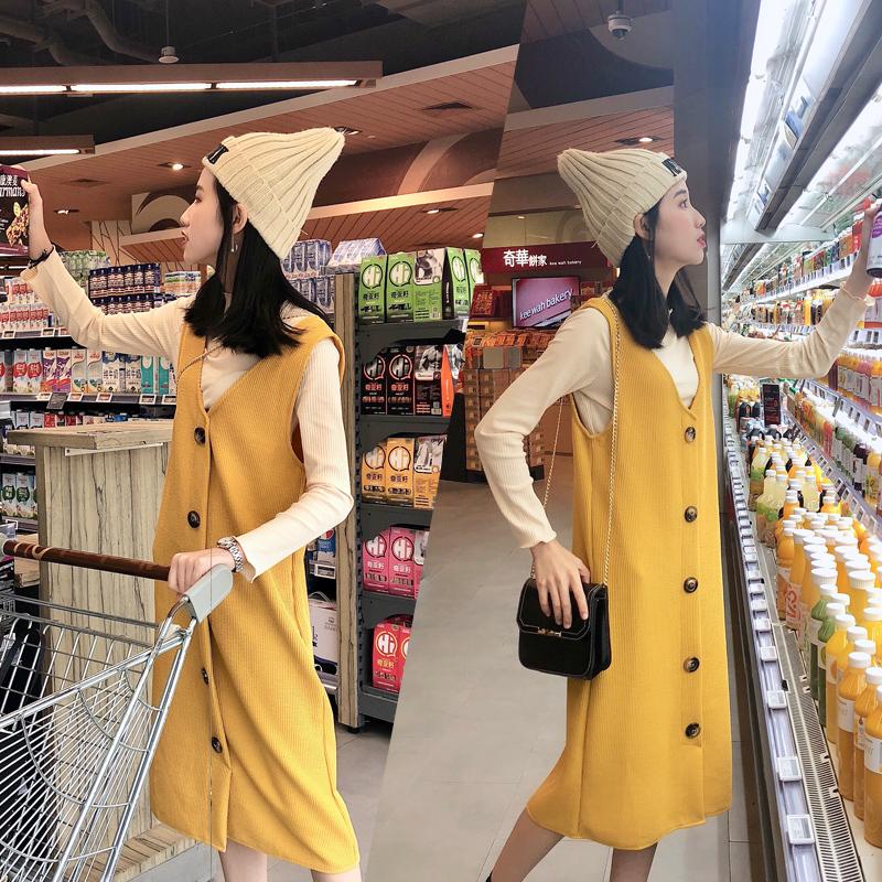 大码女装胖mm秋冬新款2018洋气套装微胖妹妹中长款连衣裙两件套女