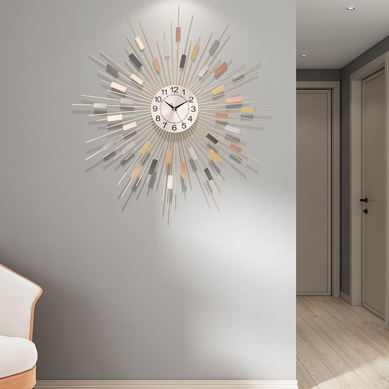 静音石英钟大钟表挂钟客厅个性创意轻奢欧式现代时尚时钟卧室家用 Изображение 1