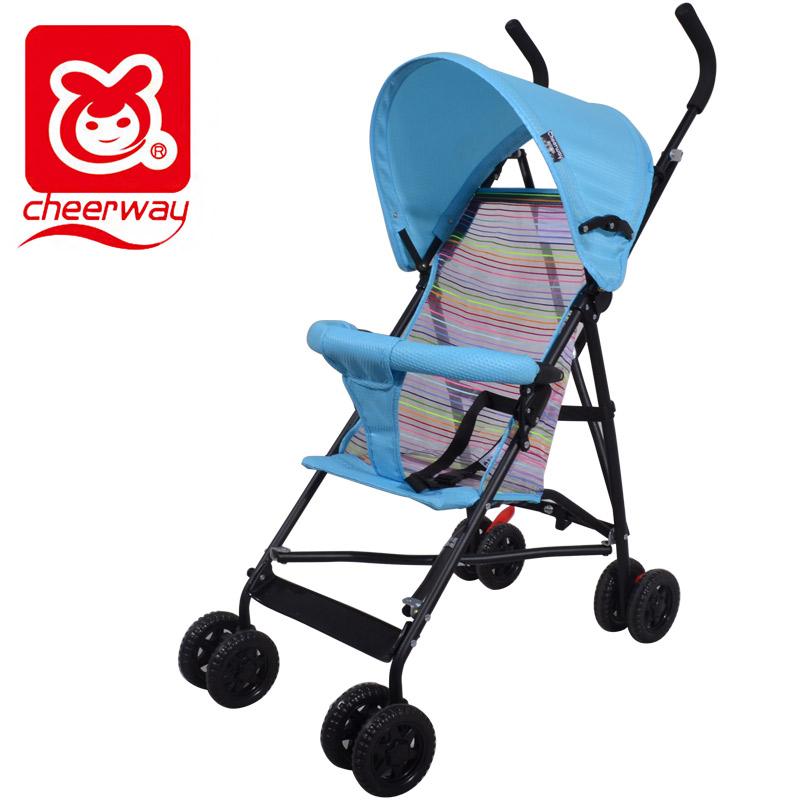 簡易嬰兒手推車輕便折疊傘車可坐簡易避震四輪 兒童小寶寶推
