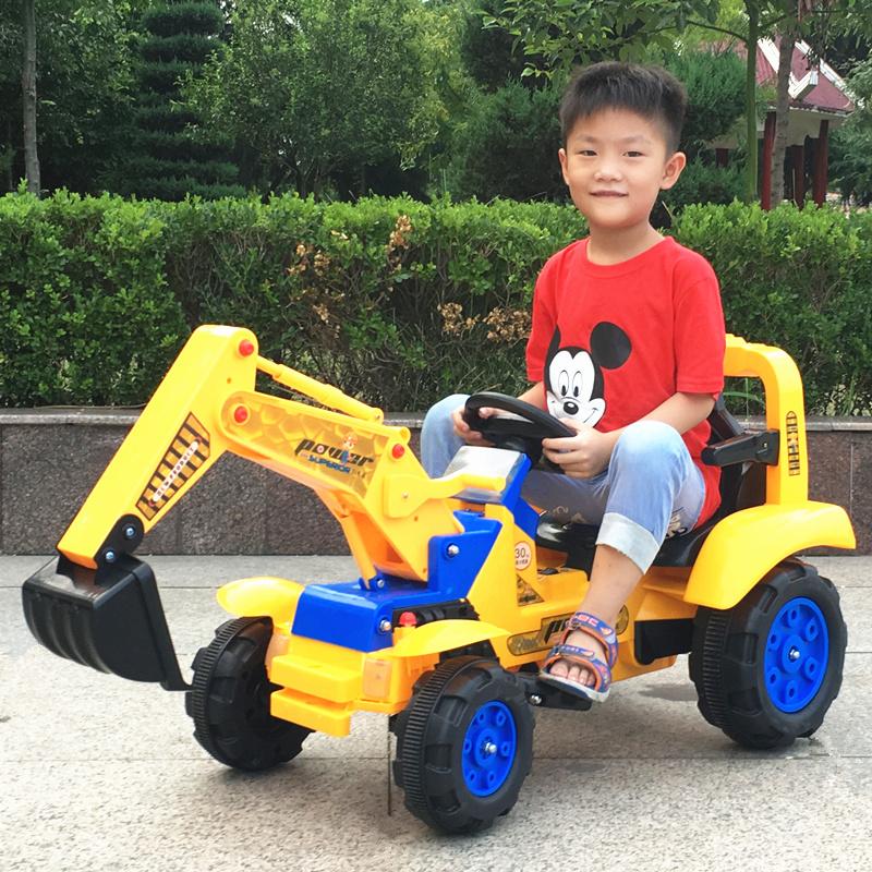 儿童可骑坐挖掘机